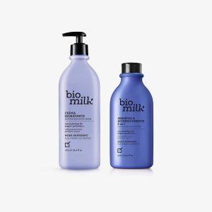 BIO Milk Šampón a Kondicionér s extraktom čučoriedok a černíc + Telové mlieko černice a čučoriedky